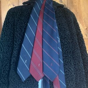 3 Yves Saint Laurent vintage ties